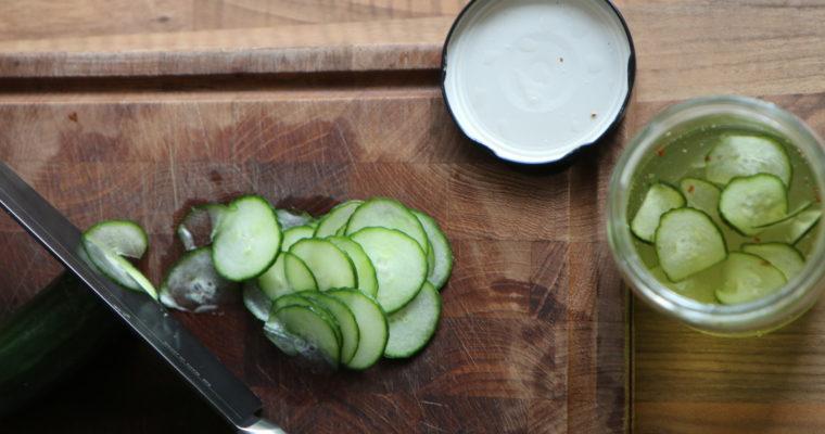 Hjemmelavet agurkesalat